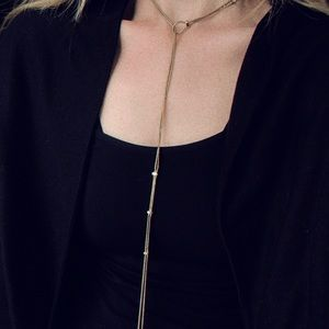 Nordstrom Jewelry - Gold Bolo Style Necklace